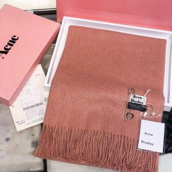 Acne studios Orange wool scarf